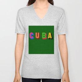 Cuba 2 Unisex V-Neck