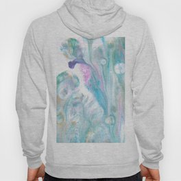 Pastel Blue Flows - Abstract Acrylic Art by Fluid Nature Hoody