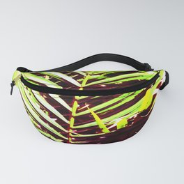 Palm Leaves, Bright Green, Yellow and Magenta Fanny Pack