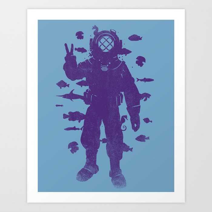 peace under water Art Print