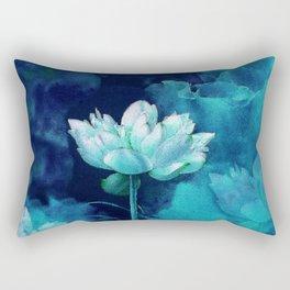 Moonlight Water Lily Rectangular Pillow