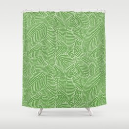 Palm Beach Green Shower Curtain