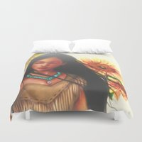 pocahontas Duvet Covers featuring Pocahontas by 8tephanie 8anchez