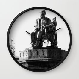 old man statue Wall Clock