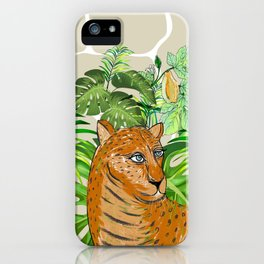 Tropical Leo iPhone Case