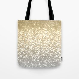 Gold and Silver Glitter Ombre Tote Bag