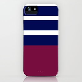 Summer Patio Perfect, Brown, White, Navy iPhone Case