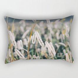 Whimsical Tall Grass Nature Field Landscape Photo Rectangular Pillow