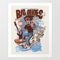 Big Dudes Goes To Heaven Art Print
