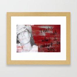 TWISTED IT Framed Art Print