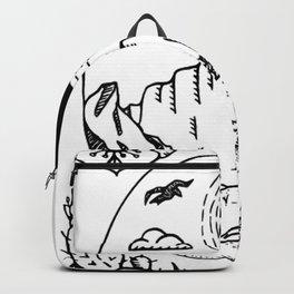 Desert Scene Illustration Backpack