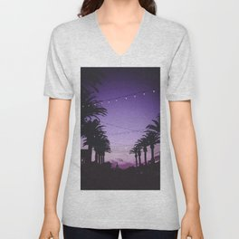 Tropical Summer Night Unisex V-Neck