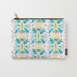 Floral Eyes Carry-All Pouch