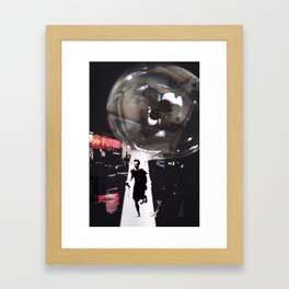 Just Don't Burst my Bubble in the Future Framed Art Print