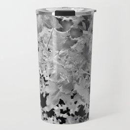 Abstract Tree Landscape Dark Botanical Art Black Noir Travel Mug