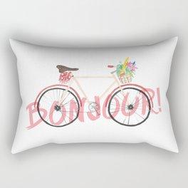 Bonjour! Bicycle Rectangular Pillow