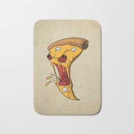 Angry Pizza Bath Mat