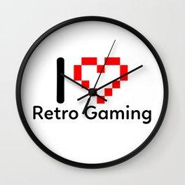 I Love Retro Gaming Wall Clock