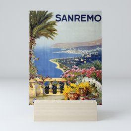 Vintage Poster Sanremo Italy Painting Mini Art Print