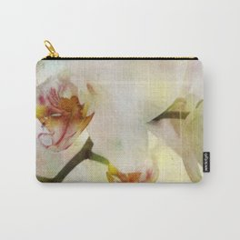 White Phalaenopsis Orchid Carry-All Pouch
