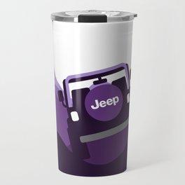 Jeep 'Driving' Purple Mountain Travel Mug