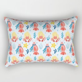 Lobster pattern under the sea  Rectangular Pillow