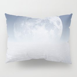 Desert Moon, Blue Sky Pillow Sham