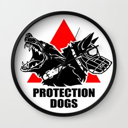 Protection dogs - IPO, Mondioring, K9 Wall Clock