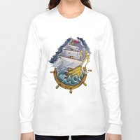 sailor Long Sleeve T-shirts featuring Sailor by Jeef