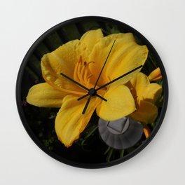 Daylily Wall Clock