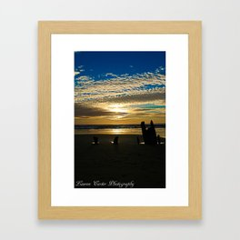 Oregon Coast Sunset Framed Art Print