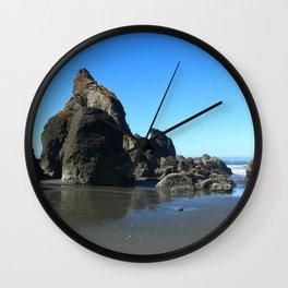 Sea Stacks Of Ruby Beach Wall Clock