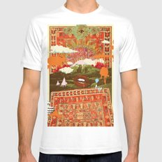 MORNING PSYCHEDELIA  White Mens Fitted Tee X-LARGE