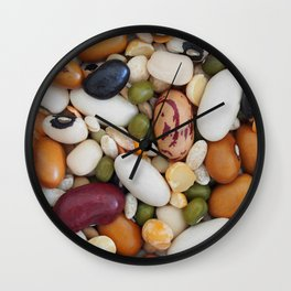 Cereals and legumes Wall Clock