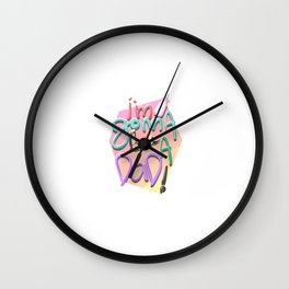 I'm Gonna Be A Dad! Wall Clock