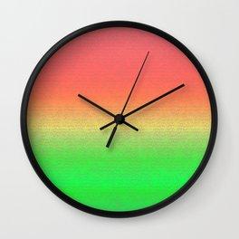 Reggae Island Vibe Gradient Scene Wall Clock