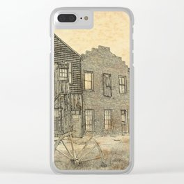Ghost Town Bodie California Clear iPhone Case