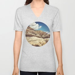 Striations Unisex V-Neck