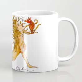 Mermaid Yoga Up Dog Pose Coffee Mug