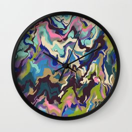 Techno Wave Wall Clock