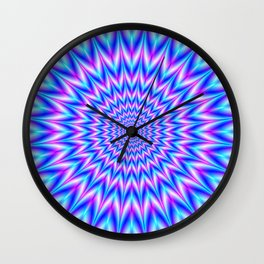 Centre Point Pulse in Blue and Pink Wall Clock
