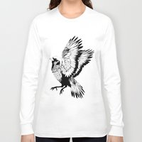 sparrow Long Sleeve T-shirts featuring Sparrow by akreon