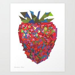 Strawberry (Fraise) Art Print