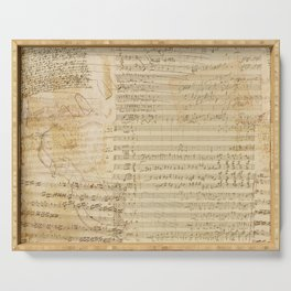 Classical music notations Serving Tray