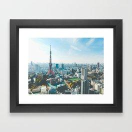 Tokyo Tower in the Morning Framed Art Print