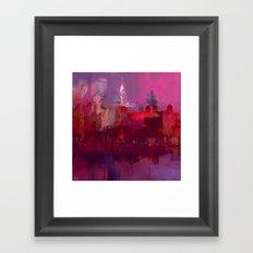 Red city Framed Art Print