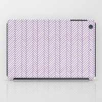 herringbone iPad Cases featuring Herringbone Orchid by Project M
