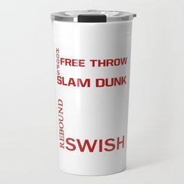 Basketball Descriptive Funny Sports Vintage T-shirt Travel Mug
