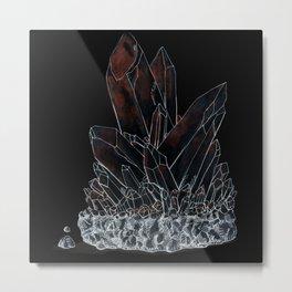 Inktober Inverted Crystal Metal Print