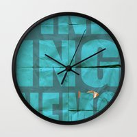 finding nemo Wall Clocks featuring Finding Nemo by Garrett McDonald
